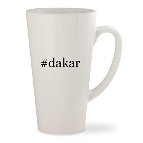 #dakar - White Hashtag 17oz Ceramic Latte Mug Cup (Star Motorcycle Pants Rock)