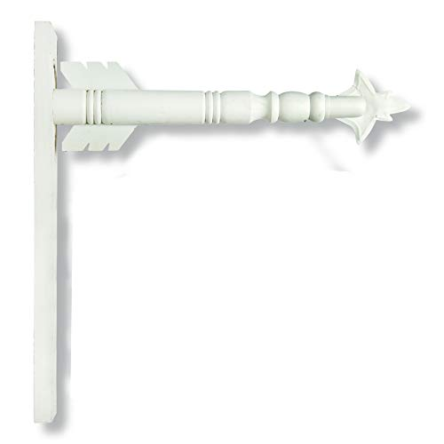 Arrow Hanger for Inter-Changeable Decorative Plaques and Signs - White ()