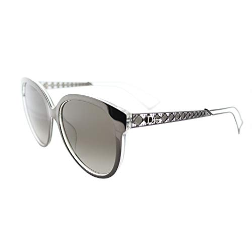 (Christian Dior Diorama 2/S Sunglasses Gray Crystal/Brown Gradient )