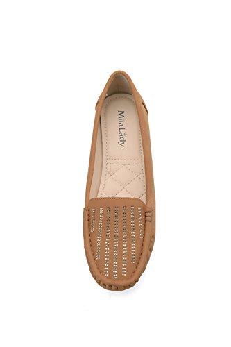 Mila Lady Mlia Lady (Zenobia) Women Loafer Slip On Moccasins Driving Shoes Camel nrjSdi8ldV