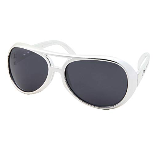 50s 60s Rock Star Sunglasses - Elvis Style Aviator Glasses - Mens Costume
