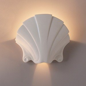 17-Inch-Seashell-Themed-Ceramic-Bowl-Sconce-Indoor-Lighting-Fixture