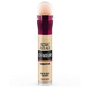 Maybelline New York – Anti-cernes/Correcteur Fluide – Instant Anti-Age L'Effaceur – 01 Beige Rosé – 6,8 ml