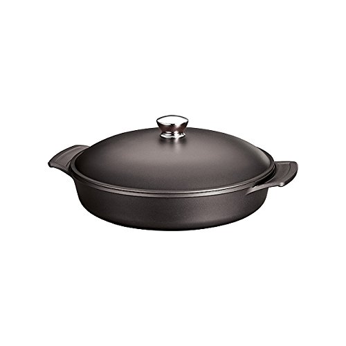 Tramontina LYON 5-Quart Induction-Ready Aluminum Deep Saute Pan with PFOA-Free Ceramic-Reinforced Nonstick, Onyx, Made in Brazil - 80142/016DS