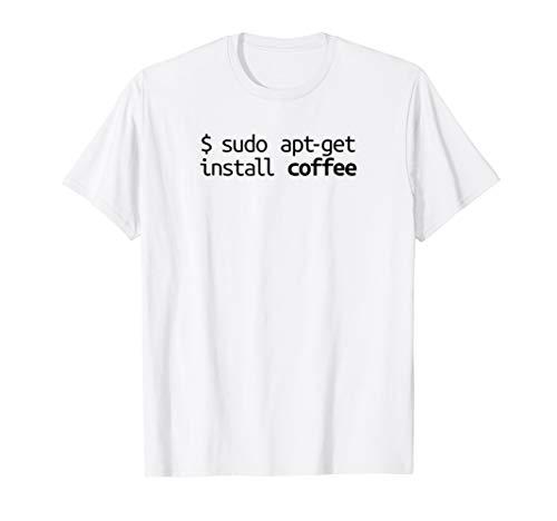 Linux Shirt Sudo Apt-Get Coffee Funny Tech Humor Unix Shirt