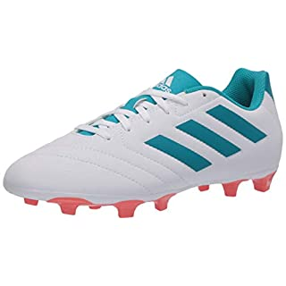 adidas Women's Goletto VII FG W Sneaker, FTWR White/Energy Blue/Easy Coral, 8 M US