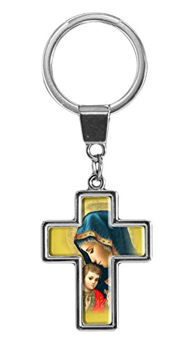 Quality and shiny keychain in shape of a cross