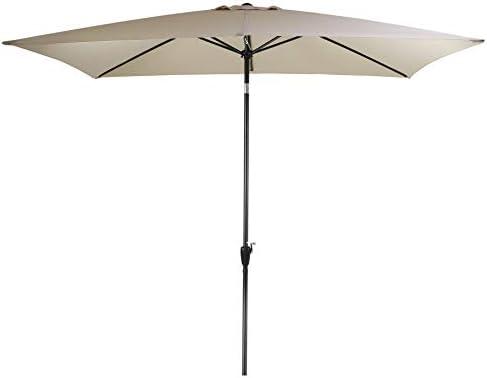 Amazon Com Tourke 10 X 6 5ft Rectangular Patio Umbrella Outdoor