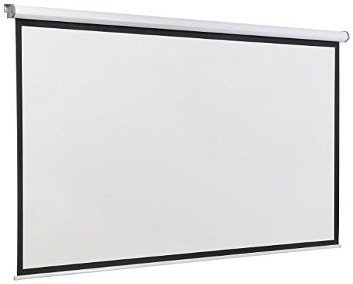 Displays2go, Motorized Projector Screen, Aluminum, Fiberglass, and PVC Construction – Black (PRSELE108) by Displays2go (Image #1)