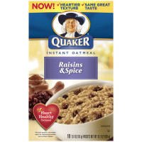 Quaker Instant Oatmeal Raisins & Spice 10 pk (Pack of 12)