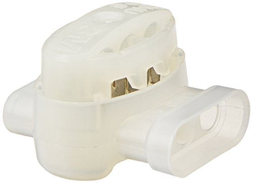 3M Scotchlok Electrical IDC 314U-BOX, Pigtail, Self-Stripping, and Flame Retardant, White, 22-14 AWG, 50 per pouch