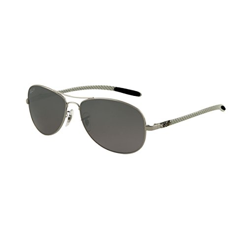 Ray-Ban RB8301 - GUNMETAL Frame CRY. POLAR GRAY MIR SILVER GR Lenses 59mm - Glasses Polarized Reading Collection
