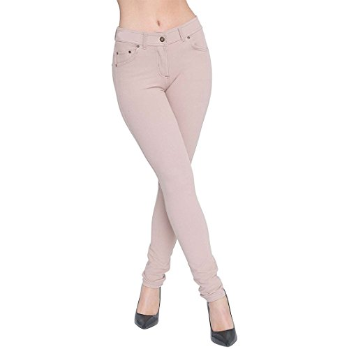 Women Ladies Long Stretch Jeggings With Zip Fasting Plus Size