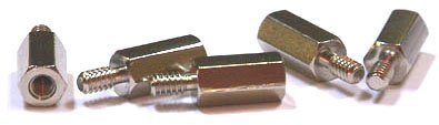 5/16'' OD Hex Standoffs (Male-Female)/8-32 x 1/2''/Stainless Steel/100 Pc. Carton
