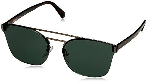 Prada  Men's 0PR 67TS Matte Brown/Green - Italy Prada Sunglasses