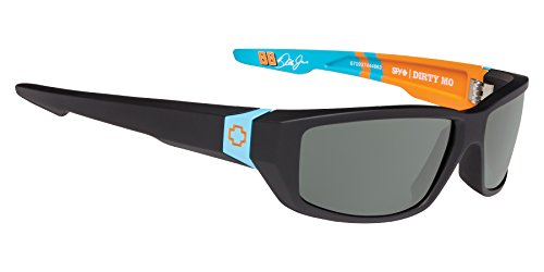 Spy Optic Dirty Mo Shield Sunglasses, Spy Livery/Happy Gray/Green, 1.5 - Sunglasses Mens Spy