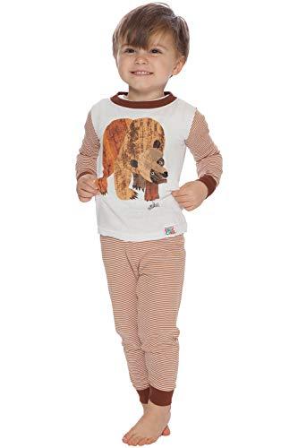 Eric Carle Baby Brown Bear Cotton Infant Pajama Set, Multi, 12M