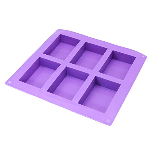 X-Haibei 6-cavity Plain Basic Rectangle Lotion Bars Soap Mold Silicone Mould for Homemade Craft