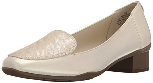 Anne Klein Damen Daneen Leder Slip-On Loafer Elfenbein