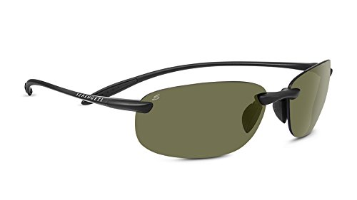 Serengeti 8369 Nuvino Polar PhD 555NM Sunglasses, Satin Black by Serengeti (Image #1)