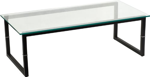 Flash Furniture Glass Coffee Table - 0.5' Thick Glass