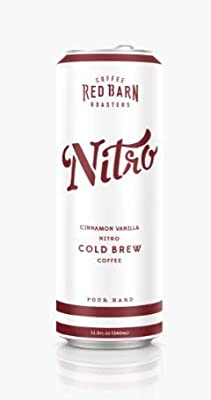 Cinnamon Vanilla Nitro Cold Brew Coffee (12 11.5 fl. oz. cans) | Red Barn Coffee Roasters | Shelf-Stable - No Refrigeration Req'd | Coconut Creamer | 240mg Caffeine