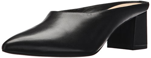 Nine West Women's Helmer Leather Mule, Black, 8.5 Medium US