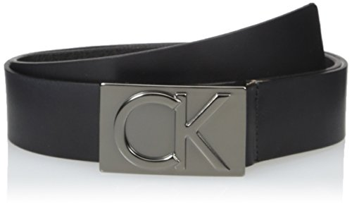 Calvin Klein Men's Calvin Klein 38mm Flat Strap Smooth, Matte Leather Belt, black Matte black, 36