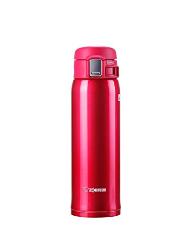 Zojirushi SM-SA48-RW Stainless Steel Mug, 16-Ounce, Clear Red
