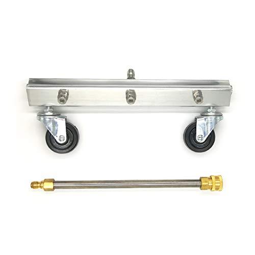 LOVHO Pressure Washer Water Broom, 12 Power Washer Cleaner, Sweep Driveway, Sidewalk, Deck, 4000 PSI