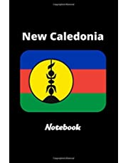 New Caledonia Notebook: New Caledonia Flag Lined Diary / Journal Gift, 120 Pages, 6x9, Soft Cover, Matte Finish