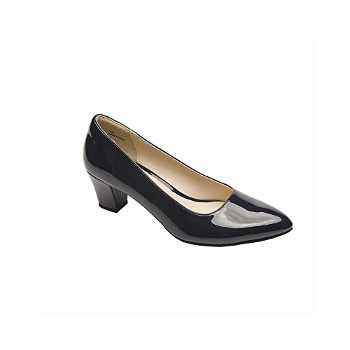 Pic/Pay Adria Women's Pumps - Pointy Toe Low Pump Navy Patent PU 7.5M