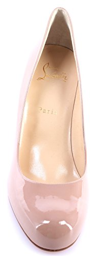 Calf Christian 85 Femmes Simple Louboutin Decollete Pump Chaussures Nude Patent TWp8ZqRT