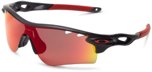 Oakley Mens Radarlock Path OO9181-06 Polarized Shield Sunglasses,Matte Black Ink Frame/Red Iridium Polarized Lens,one - Frame Radarlock