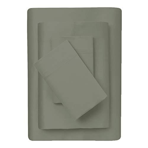 "Splendid Collection ! HOT Deals ! 600 Thread Count 100% Cotton Sleeper Sofa Sheet Set Twin Size (36""x 72"" + 6"" Deep) Solid Silver Grey"
