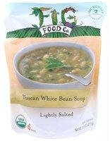 Fig Food Organic Tuscan White Bean Soup Lightly Salted, 14.5 Ounce