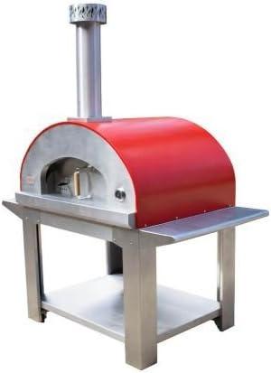 ULTRA40 horno de leña portátil Pizza con ruedas, color rojo: Amazon.es: Hogar