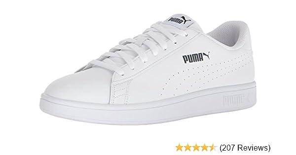 *NEW* PUMA Men/'s Smash Perf C White Leather Sneakers Athletic Tennis Shoe