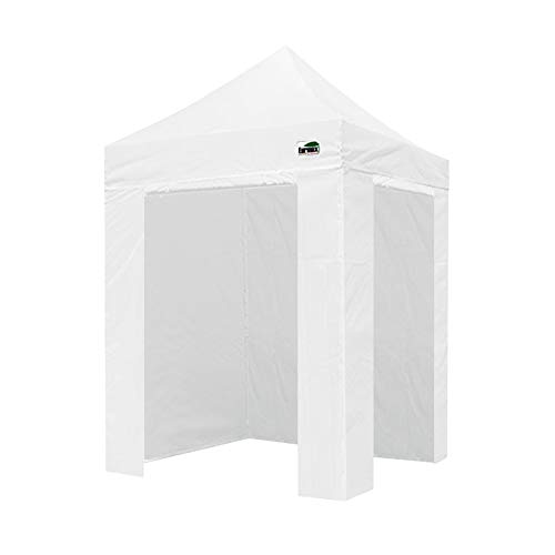Eurmax 5 X 5 Pop up 4 Wall Canopy Photo Booth Instant Canopies with 4 Side Walls and Carry Bag White