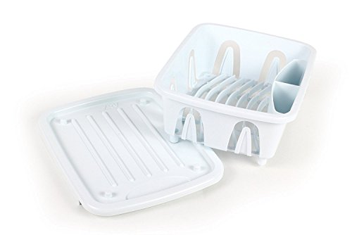 Camco Sink (Camco Durable Mini Dish Drainer Rack and Tray Perfect for RV Sinks, Marine Sinks, and Compact Kitchen Sinks- White (43511))