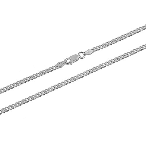 - Kezef Creations 925 Sterling Silver 3mm Miami Cuban Link Chain Necklace 16 Inch