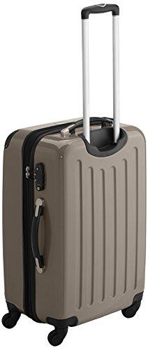 HAUPTSTADTKOFFER - Alex - 2er Koffer-Set Hartschale glänzend, TSA, 65 cm + 55 cm, 74 Liter + 42 Liter, Graphit-Gelb Rot-champagner