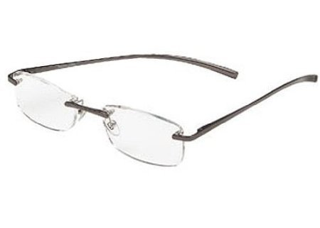 (3 PACK + BONUS) Foster Grant / Magnivision +2.50 ALUMINEYES Reading Glasses - Rimless Lens with Lightweight Gunmetal Arms & Spring Hinges -H23+ + 1 FREE BONUS -SUEDE CLEANING CLOTH