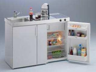 Miniküche 120 Cm Breit Mit Kühlschrank : Miniküche kompaktküche magnat 120 ceran: amazon.de: küche & haushalt