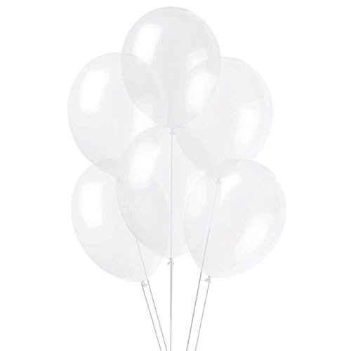 24 Inch Giant Round Crystal Clear Latex Balloons by TUFTEX (Premium Helium Quality) Pkg/12