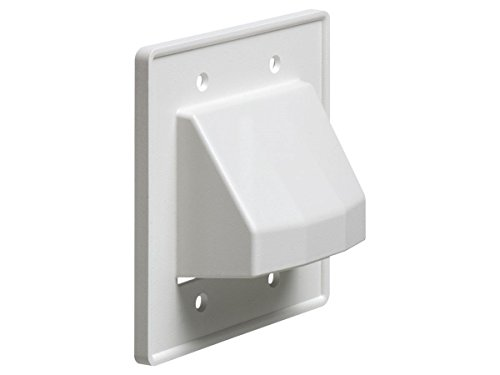 Monoprice Reversible 2-Gang Low Voltage Scoop Wall Plate Whi