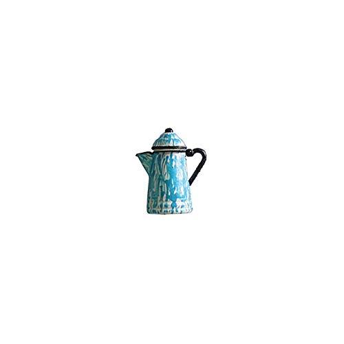 Dollhouse Miniature Coffee Pot, Grey Graniteware ()