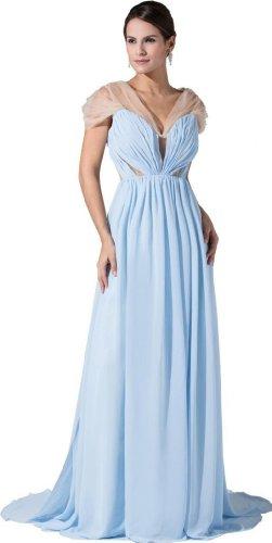Orifashion para vestido de noche mujer Empire Color Azul Claro azul claro