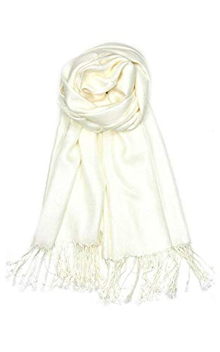 AN Womens Pashmina Shawl Scarf with Tassels Silk Soft Fashion Accessory