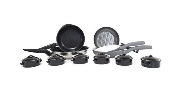 Batería de cocina de inducción-sartenes Pyrex Quid-Set de 11 piezas ...